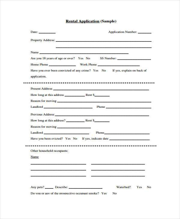 basic renters application