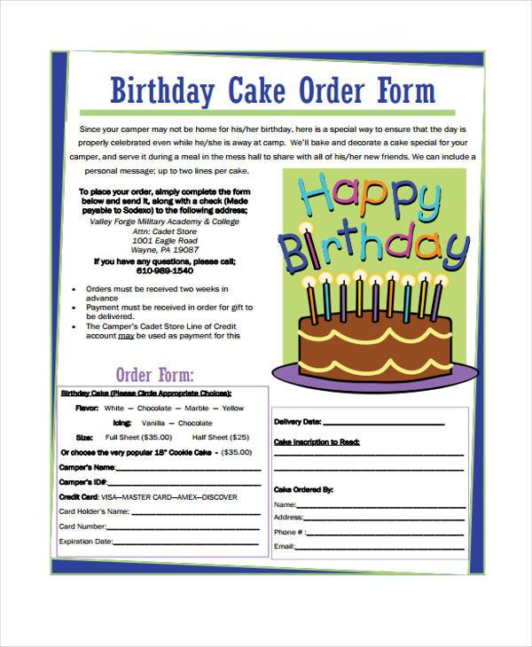 free 35  simple order forms in pdf