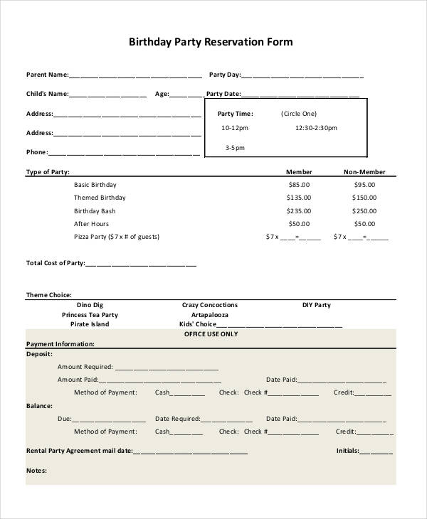 birthday party reservation form3