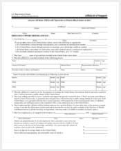 blank affidavit of support form
