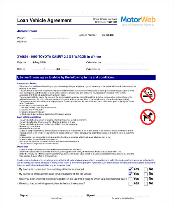 Doc12751650 Free Car Loan Agreement Form corporate loan – Loan Agreement Form Free