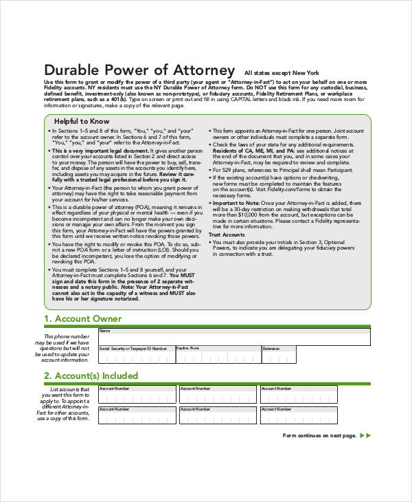 blank durable power of attorney form1