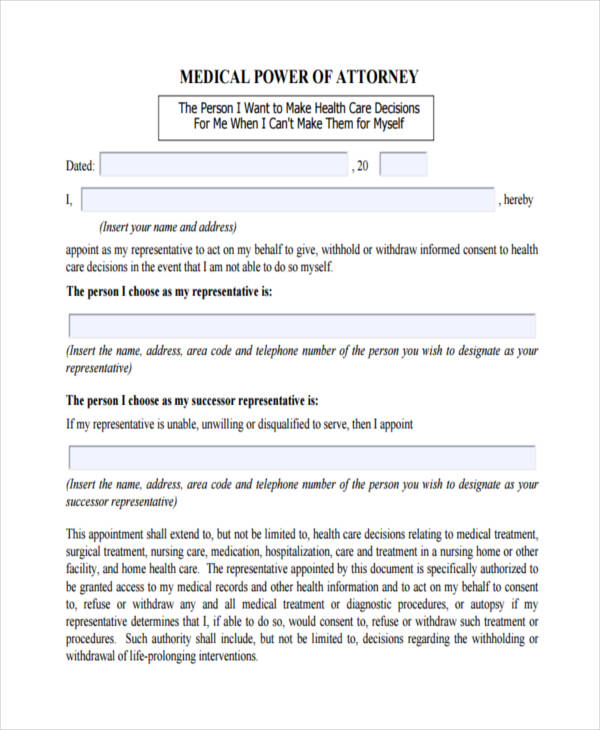 Gratifying image with printable medical power of attorney