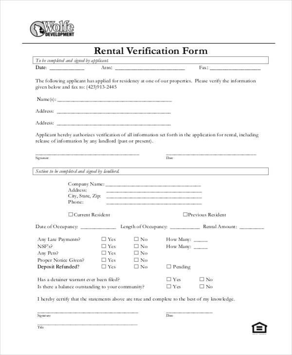 blank rental verification form1