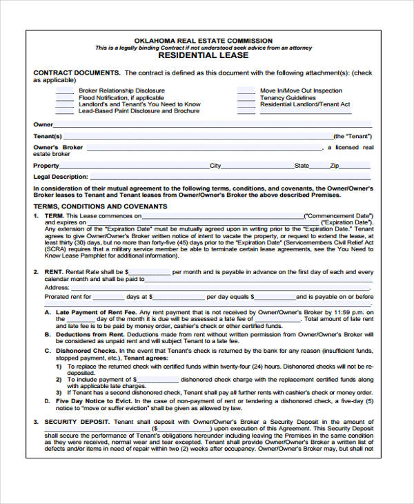 Lease Contract Contract Lease Renewal Form Sample Lease Renewal – Sample Horse Lease Agreement Template