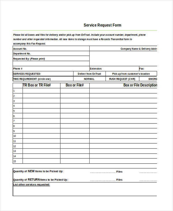 Customer Request Form When A Potential Customer Fills Out The