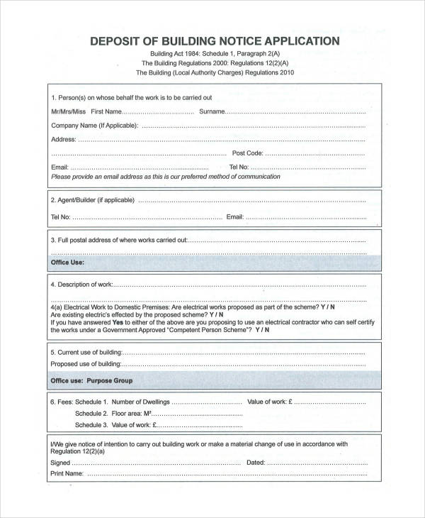 building notice application form1