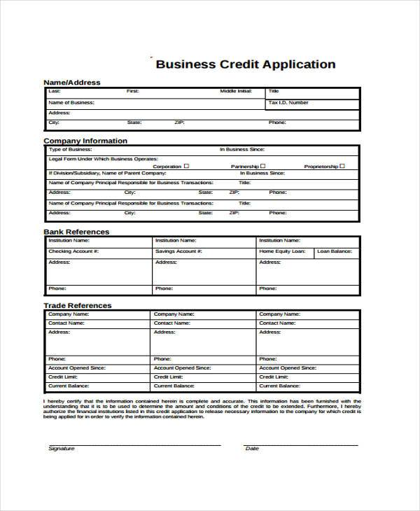 business credit application form2