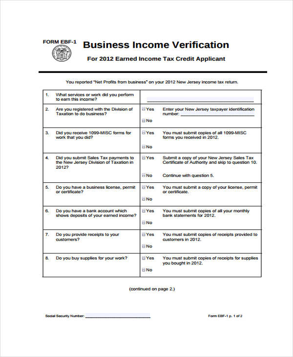 Free Verification Forms