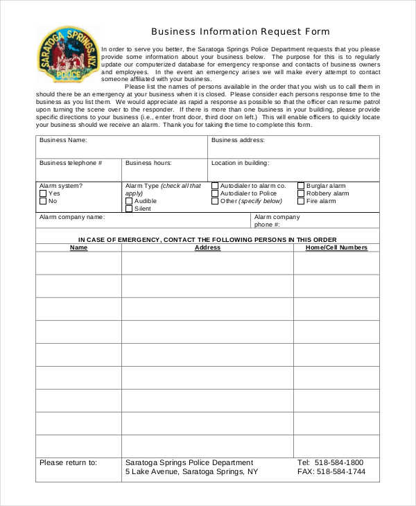 business information request form1