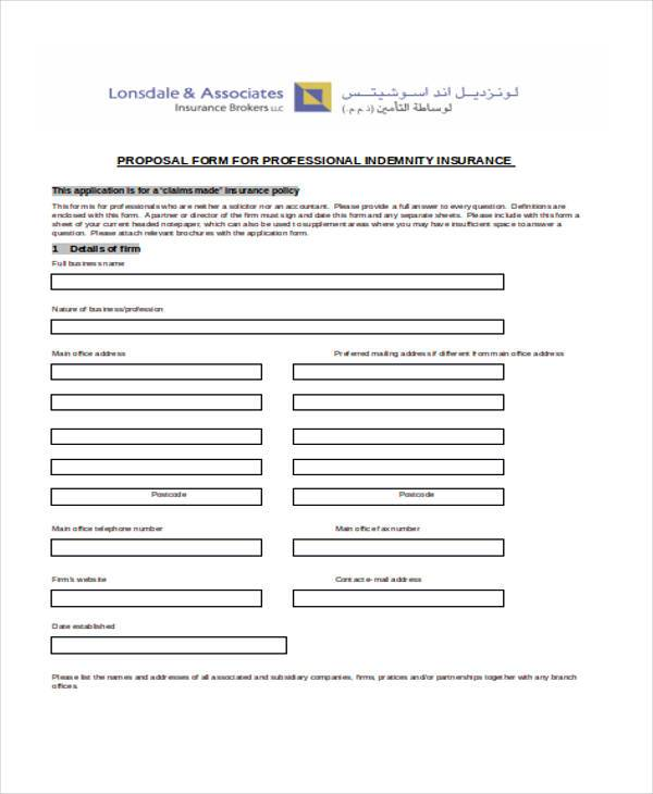 business insurance proposal form1