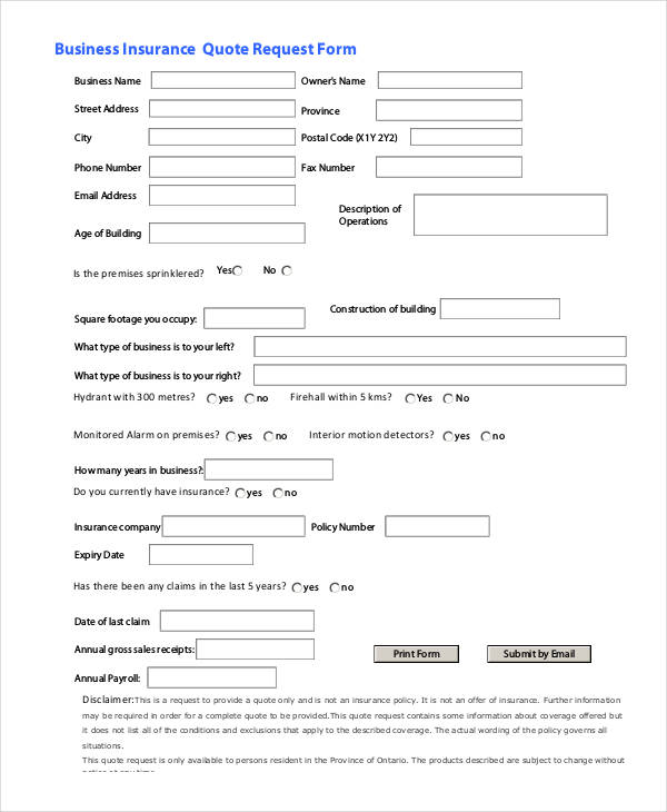 insurance request form - nomadconvoy.co