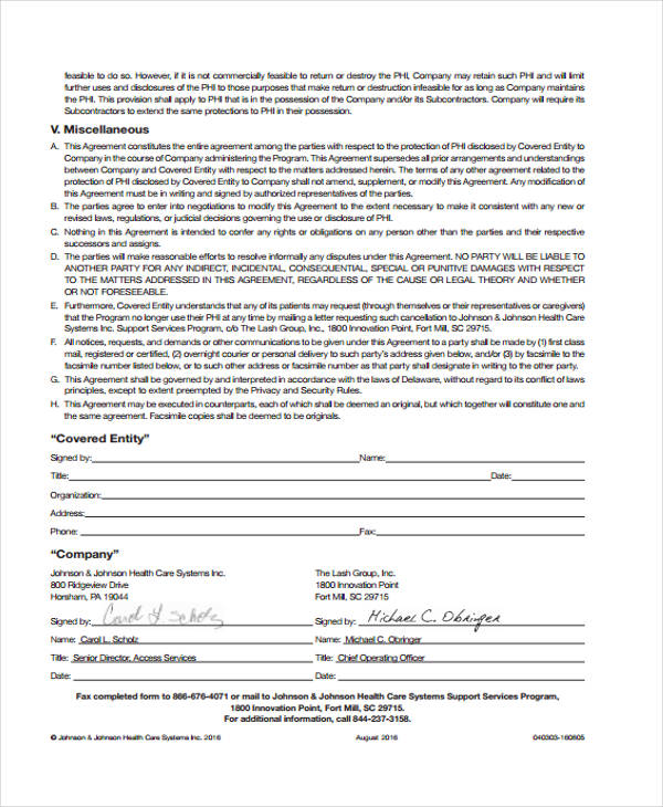 Free Business Agreement Form 30 Free Documents in Word PDF – Business Associate Agreement Template