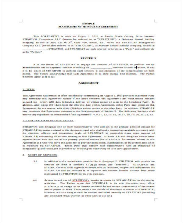 Business Management Agreement. Commercial Reasonableness Valuing ...