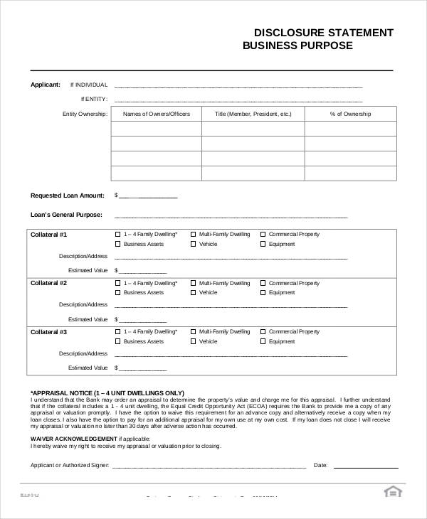 business purpose statement form3