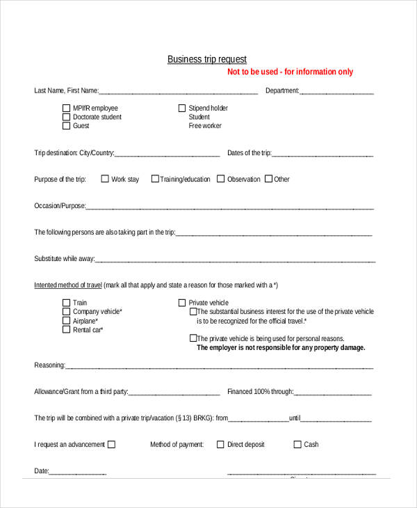 business trip request form1