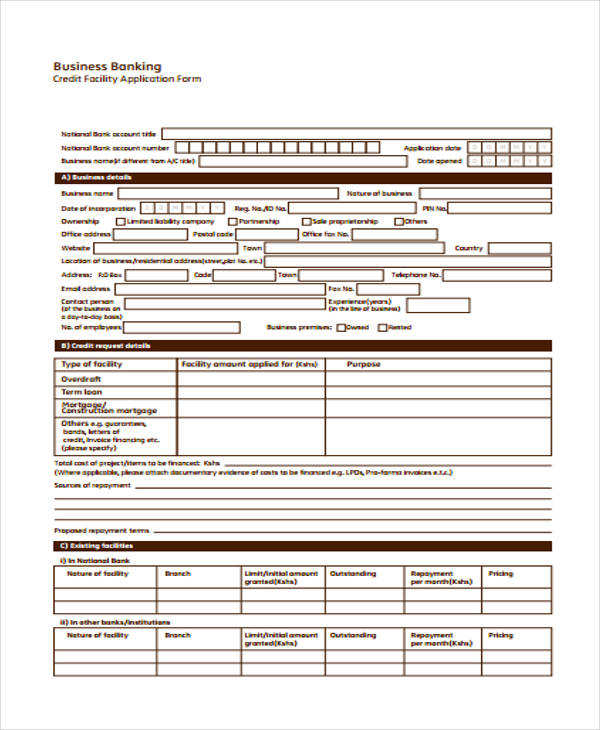 business credit facility application form2