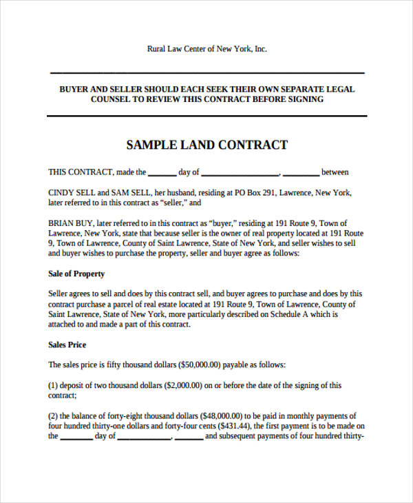 Free Contract Agreement Forms