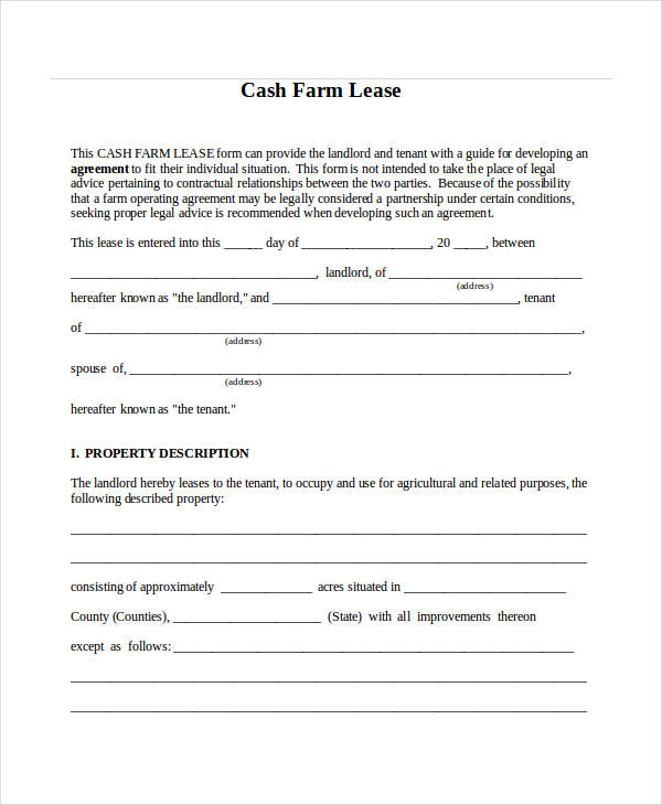Farm partnership agreement farm partnership for Farm rental agreement template