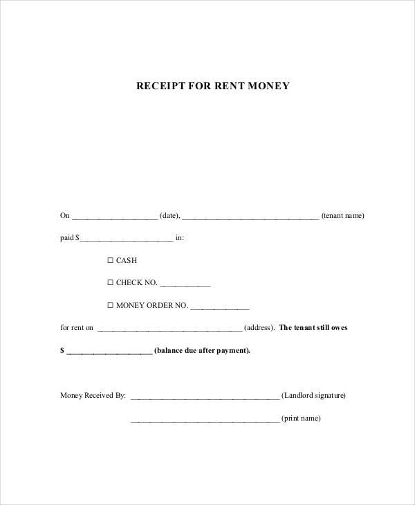 cash rent receipt form1