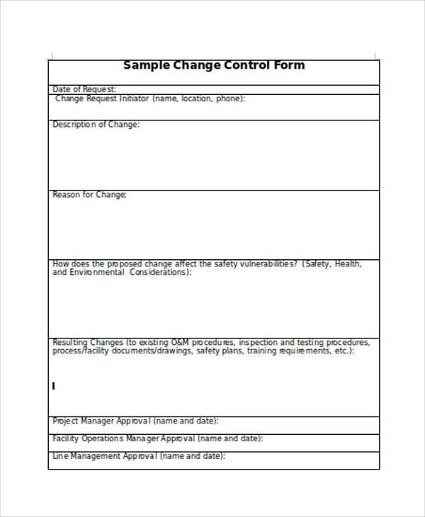 change control form