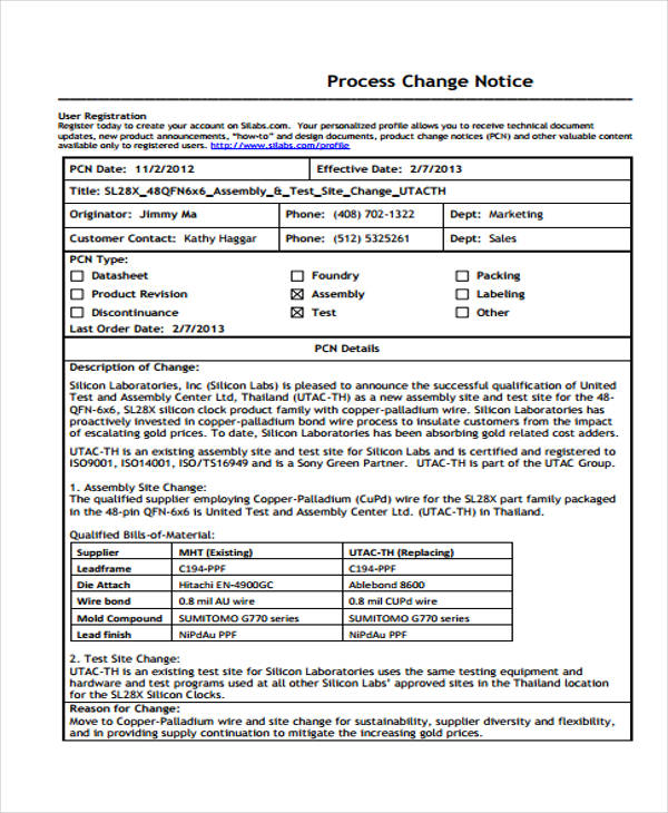 35 notice form examples