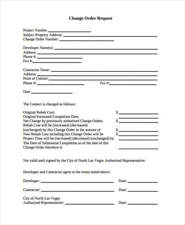 change order request form1