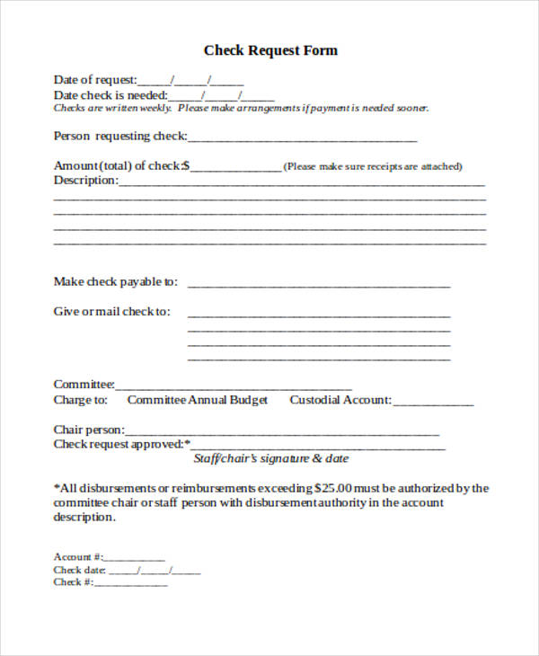 free 14  sample check authorization forms in pdf