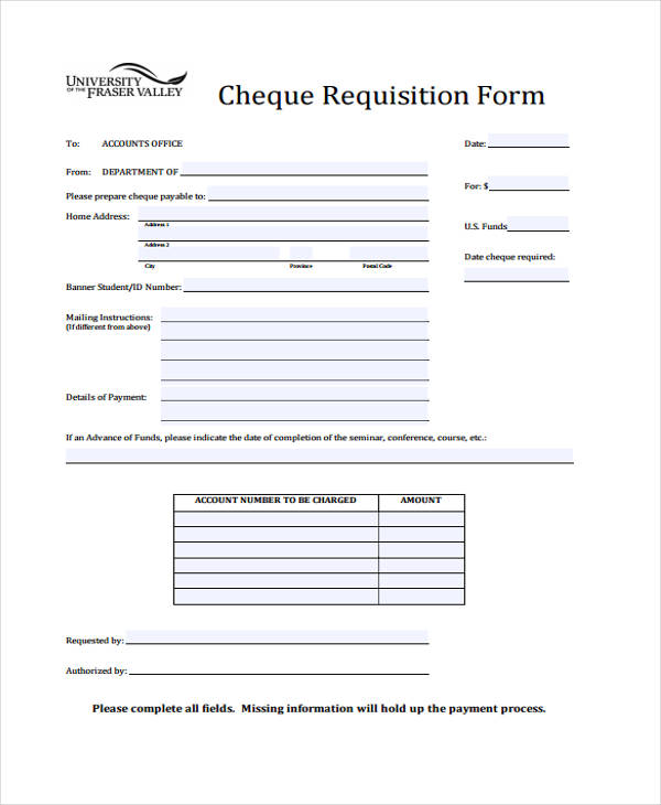 sample purchase requisition form