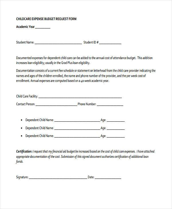 Budget Forms in PDF – Budget Request Form