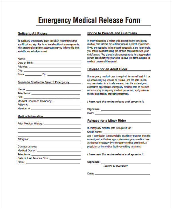 child emergency medical release form3