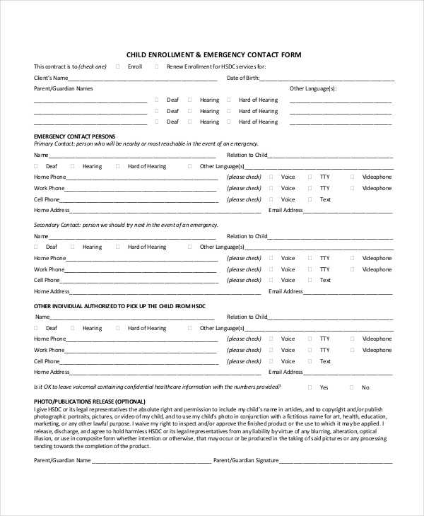 child enrollment emergency contact form1