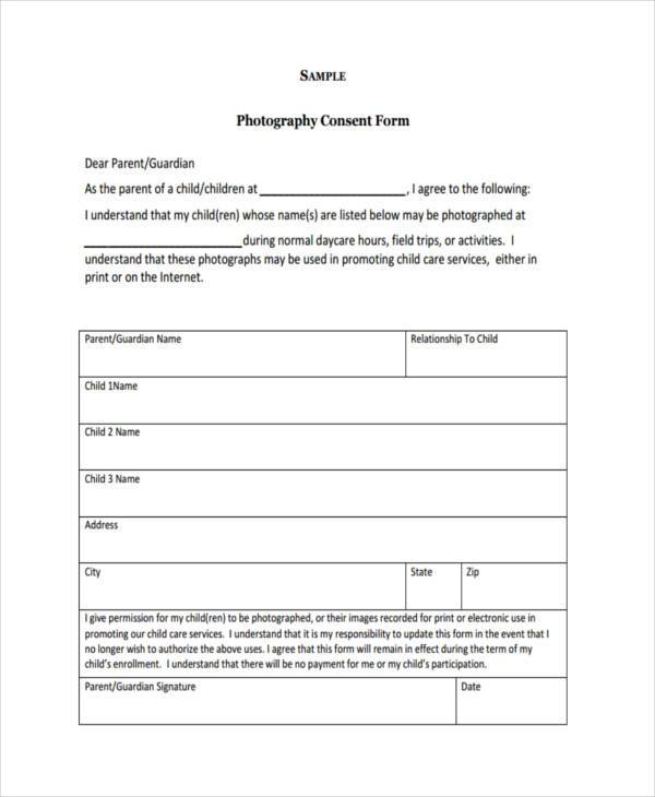 Release form templates for Consent form template for children