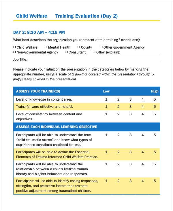 child welfare training evaluation form1
