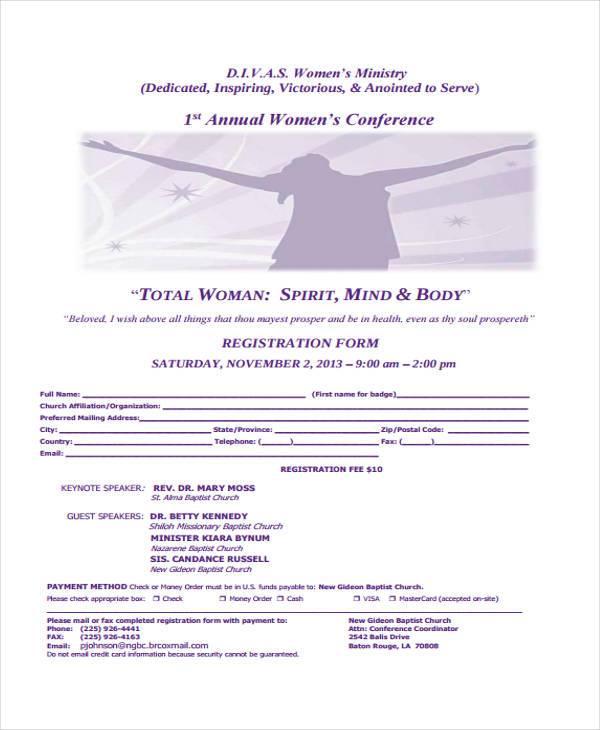church registration formexample