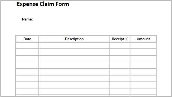 claim form template