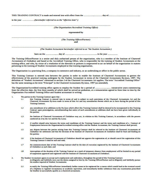Contract Agreement Form Templates