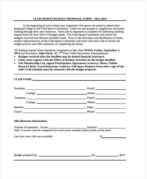 club sports budget proposal form1