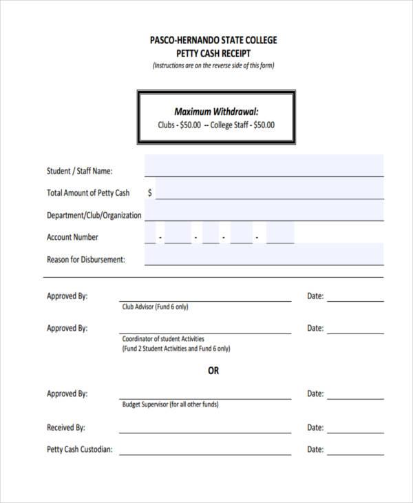 college petty cash receipt form1
