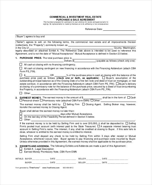 22+ Free Purchase Agreement Form
