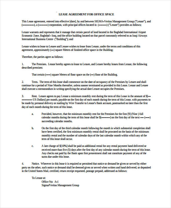 40 Sample Lease Agreement Forms – Sample Land Lease Agreement Templates