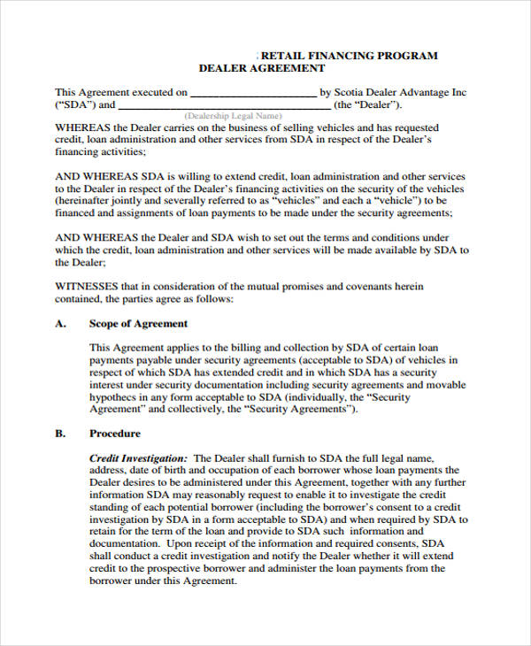 Loan Agreement Form Template – Financial Loan Agreement Template