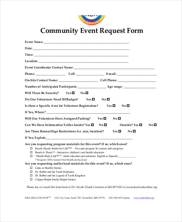 community event request form2