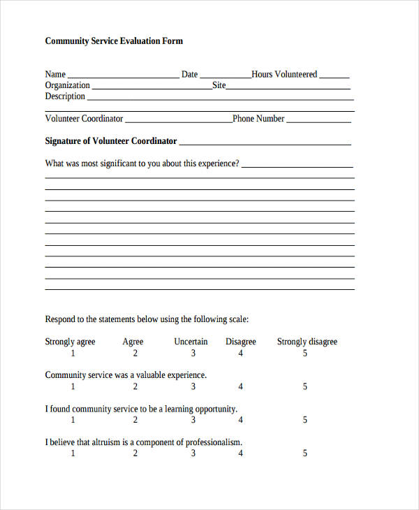 community service evaluation form3