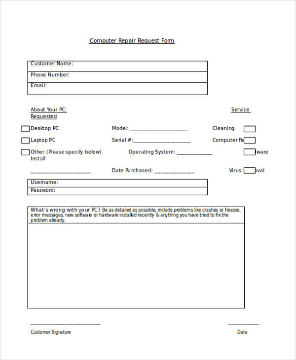Request Forms In Word