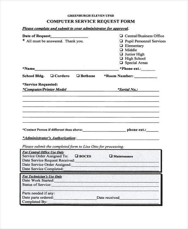 34 service forms in pdf for Rma request form template