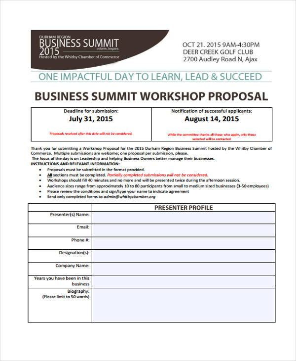 conference workshop proposal form