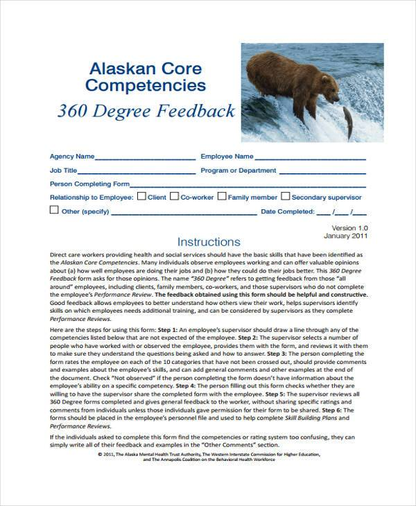 confidential 360 degree feedback form