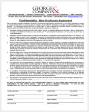 confidentiality non disclosure agreement form