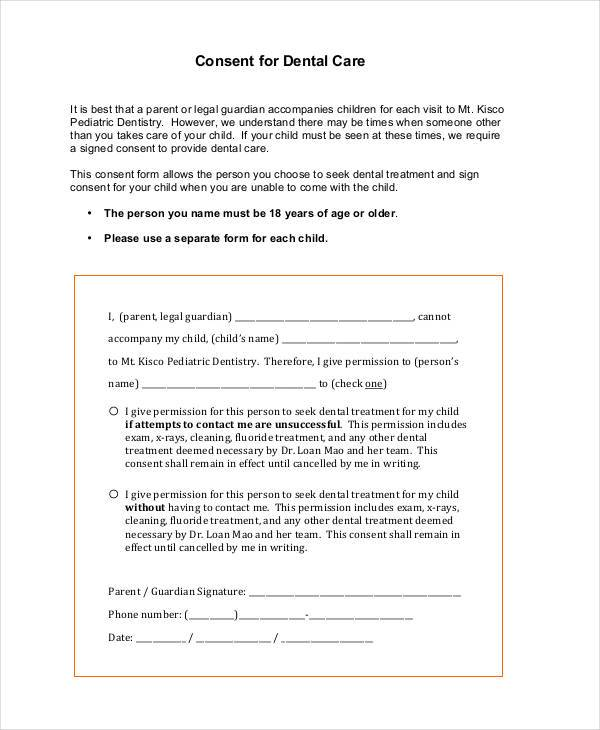 Dental Consent Form Sedation Consent Form By Smartpractice